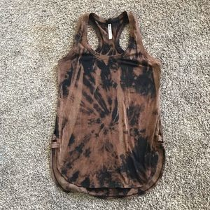 Fabletics Acid Wash Athletic Tank Top Customized